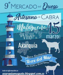 Mercado del Queso Artesano de Cabra Malagueña y Vino de la Axarquía 2020.