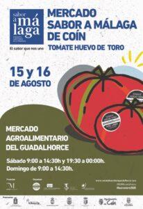 Mercado del tomate huevo de Toro en Coín.